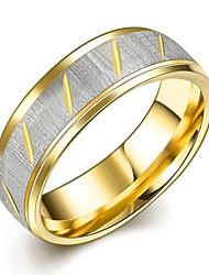 Couple de Bagues Bague Bague de fiançailles Acier inoxydable Mode Or Bijoux Mariage Soirée Quotidien Décontracté Sports 1pc