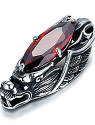 style punk collier de charme pendentif 316l rétro sculpture de dragon forme zircon bijoux en acier inoxydable pour hommes
