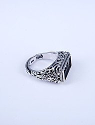 Ring Non Stone Daily / Casual / Sports Jewelry Silver Men Ring 1pc,Adjustable Silver