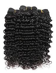 3 связки бразильских глубоких волн человеческих волос ткать расширения 300 г полный головной набор 8inch-28inch