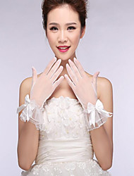 Wrist Length Fingertips Glove Lace / Cotton / Nylon Bridal Gloves