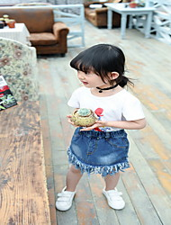 Girl Casual/Daily Solid Skirt-Cotton Summer