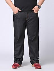 Men's Solid Black Jeans Pants,Simple Fall / Winter