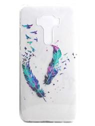Для asus zenfone 3 ze552kl zenfone 3 ze520kl чехол чехол перо узор высокая проницаемость покраска tpu материал телефон чехол