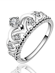 Jewelry Women Sterling Silver Silver Hollow Flower Ring