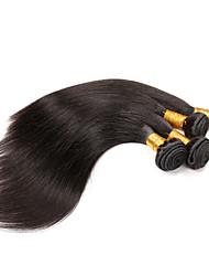 Человека ткет Волосы Монгольские волосы Прямые 3 предмета волосы ткет
