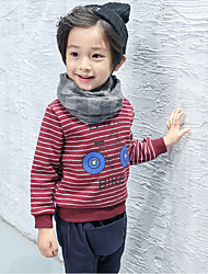 Boy Casual/Daily / School Solid Blouse,Cotton Fall Long Sleeve Regular
