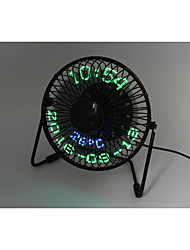 Новинки 3-in-1 Desktop calendar,clock&temperature fan 130cm 145*168*115 Черный