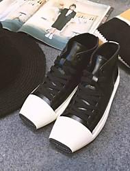 Homme-Décontracté-Noir / BlancOthers-Sneakers-Cuir