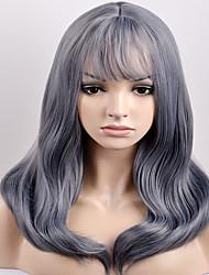 mulheres europeias e americanas no ano novo na moda no qi, Liu Qi escuro onda cinza de alta temperatura peruca fio