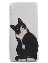 For Xperia E5 XA XZ Case Cover Black Cat Pattern High Permeability Painting TPU Material Phone Case