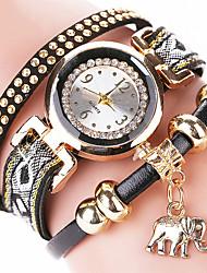 Women's Fashion Watch Wrist watch Bracelet Watch Punk Colorful Quartz PU BandVintage Cartoon Sparkle Candy color Bohemian Charm Bangle