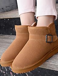 Women's Boots Winter Comfort Suede Casual Black Brown Khaki