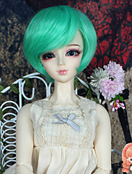 1/3 1/4 BJD SD DOD Doll Wigs Accessories Short Straight Bluish Green Color Hair Wig Not for Human Adult
