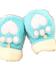la mitad es un amor de felpa guantes calientes (azul cielo)