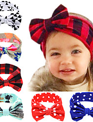Baby Bow Knot Headband With Printed Fabric Hair Accessories