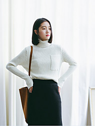 Model real shot 2016 autumn and winter pullover pocket