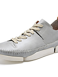 Men's Sneakers Spring / Summer / Fall / Winter Comfort Cowhide Office & Career / Athletic / Casual Black / Gray Sneaker