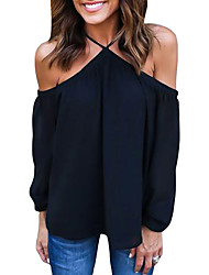 Women's Long Sleeve Off Shoulder Halter Top