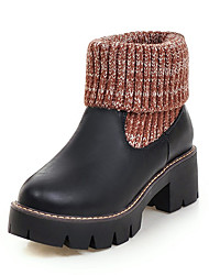 Women's Boots Fall / Winter Customized Materials / Leatherette Party & Evening / Dress / Casual Platform Split Joint