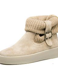 Damen-Stiefel-Lässig-LederKomfort-Beige