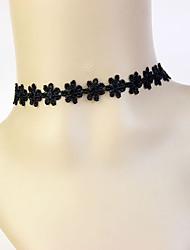 Necklace Choker Necklaces Jewelry Party Geometric Tassel Alloy Women 1pc Gift Black