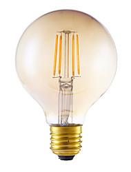 4W E26/E27 Ampoules à Filament LED G80 4 COB 350 lm Ambre Gradable AC 100-240 V 1 pièce