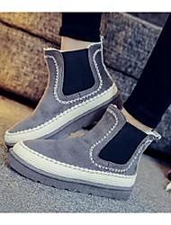 Women's Boots Winter Platform Pigskin Casual Platform Black / Gray Walking