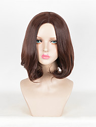 Fashion Wig Brown Color Wavy Heat Resistant Synthetic Wigs For Women
