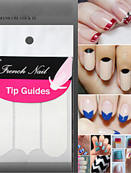 1Lot18 Packs Nail Decoration Nail Art Tips Nail Sticker Nail Art Form Fringe Guides Sticker Diy French Manicure