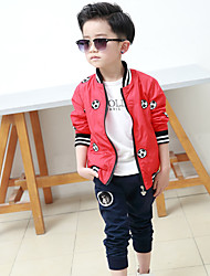 Boy Sports Print Suit & Blazer,Polyester Fall Long Sleeve