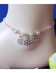 Femme Bracelet de cheville/Bracelet Perle Alliage Fait à la main Bijoux Pour Quotidien Décontracté Plage