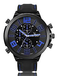 Unisex Fashion Watch Quartz Calendar / Chronograph / Water Resistant/Water Proof / Noctilucent PU Band Casual Black Brand