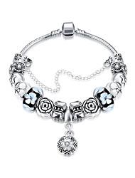Bracelet Charm BraceletRhinestone Bead Silver Plated Strand Bracelet Chrismas Gift 3 colors Friendship Bracelet Jewelry Gift Bracelet Charm Brace