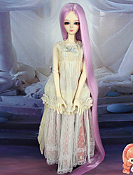 75cm Extra Long Straight Pink Color Hair 1/3 1/4 BJD SD DZ Doll Wig Accessries Not for Human Adult