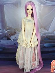 75cm extra longs droites accessries pas couleur rose cheveux 1/3 1/4 sd bjd dz poupée perruque pour adulte humain