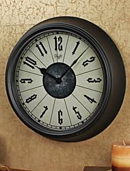 Ретро Семья Настенные часы,Круглый Железо 14 В помещении Часы