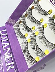 Ресницы Ресницы Ленточные накладные ресницы Глаза Цветной Поднятие ресниц Ручная работа Волокно Others 0.10mm 12mm