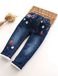 Boy Casual/Daily Embroidered Pants-Cotton Winter