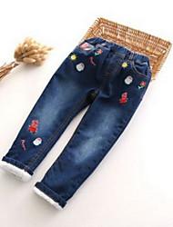 Pantalons Garçon Décontracté / Quotidien Brodée Coton Hiver