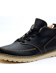 Men's Boots Winter Comfort Leather Outdoor Office & Career Athletic Flat Heel Others Black Brown Coffee Others