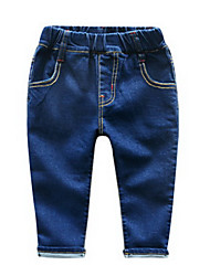 Boy Casual/Daily Solid Pants-Polyester Fall