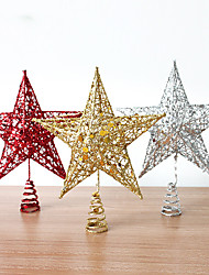 1pcs cor aleatória papel christmas decoração presentes ofing enfeites de árvore de Natal Presente de Natal da estrela do Natal