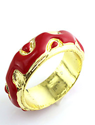 Ring Daily Jewelry Alloy Women / Men Ring 1pc,One Size Gold / Silver / Red / Blue