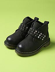 Girl's Boots Comfort PU Casual Black / Coffee / Khaki