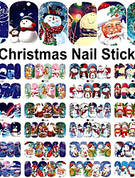 12 Nail Sticker Art Autocollants de transfert de l'eau Maquillage cosmétique Nail Art Design