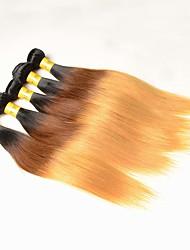 A Ombre Cheveux Péruviens Droit 12 mois 5 Pièces tissages de cheveux