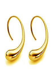 18k Gold Earring Non Stone Stud Earrings Jewelry Women Wedding / Party / Daily / Casual / Sports Gold 1 pair Gold / Silver