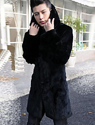 Men's Winter Fur Coat Hooded