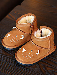 Girl's Baby Boots Winter Comfort Suede Casual Flat Heel Others Black Yellow Gray Other